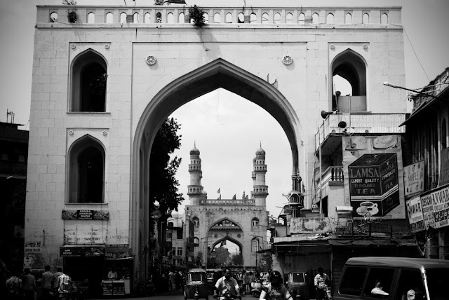 Two of the gates in Char Kaman series - Charminar , Hyderabad