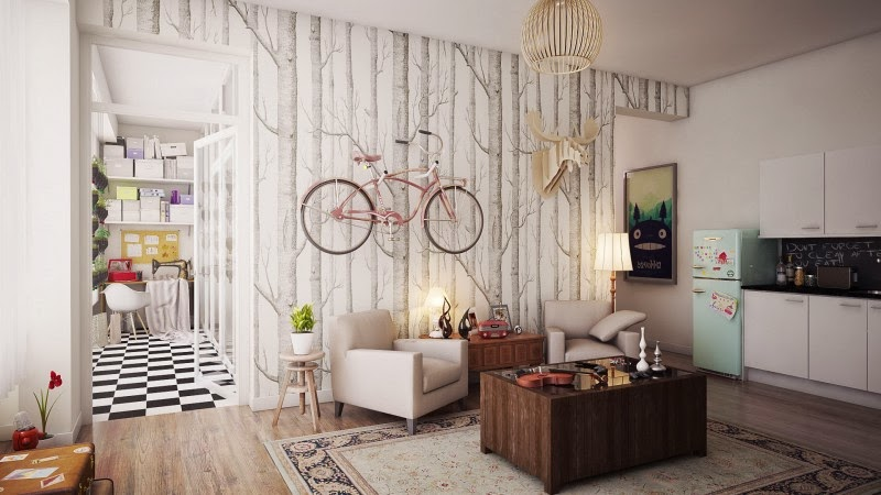 Hogares frescos apartamento con un dise o interior de for Diseno de interiores para departamentos