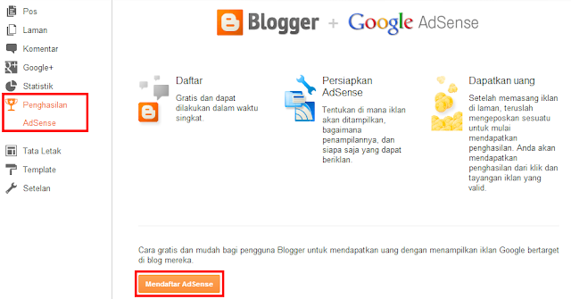 Cara Memasang Google Adsense Di Blog