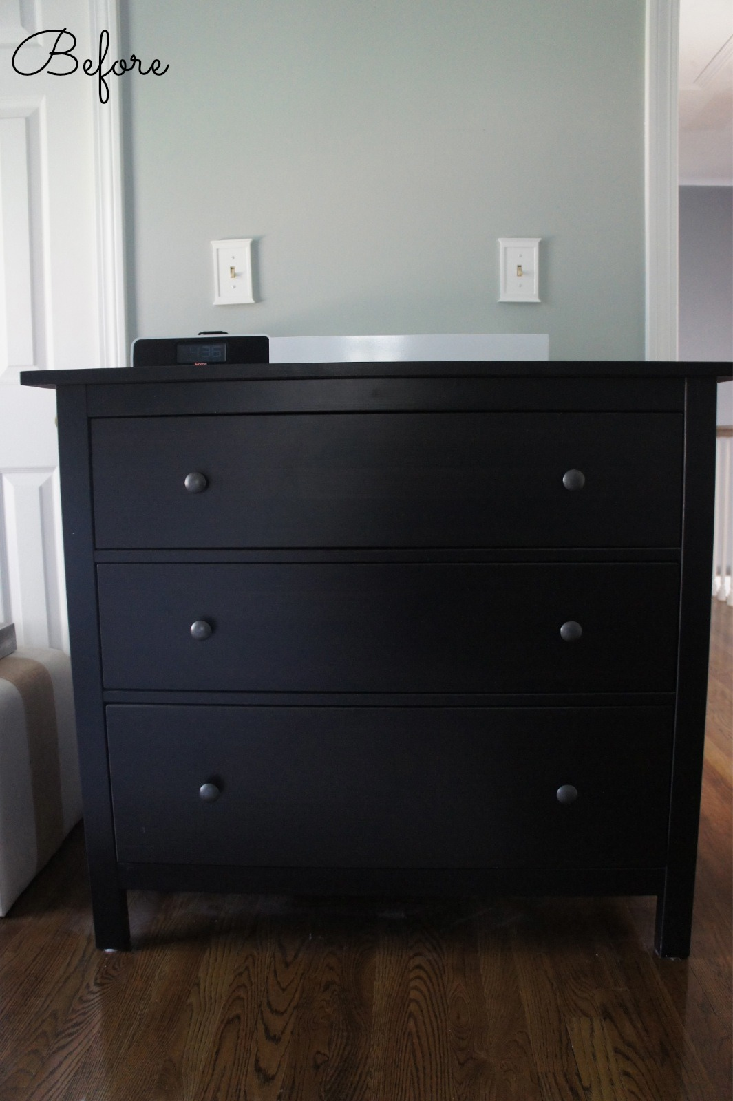 home with baxter ikea hemnes dresser guest bedroom update. Black Bedroom Furniture Sets. Home Design Ideas