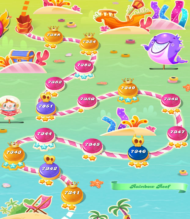 Candy Crush Saga level 7341-7355
