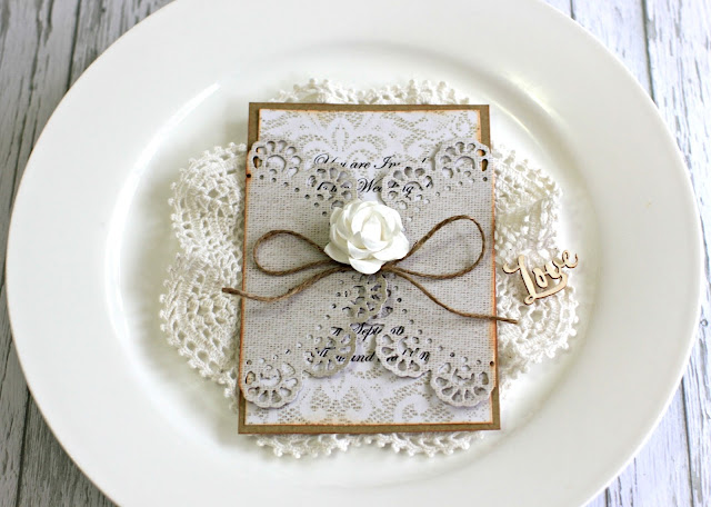Kaisercraft Always and Forever Wedding Invitation by Alicia McNamara
