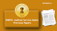 WBPSC Judicial Service Mains Previous Papers
