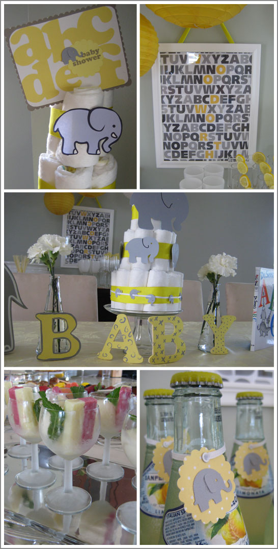 Baby Shower Food Ideas: Baby Shower Ideas Yellow And Grey