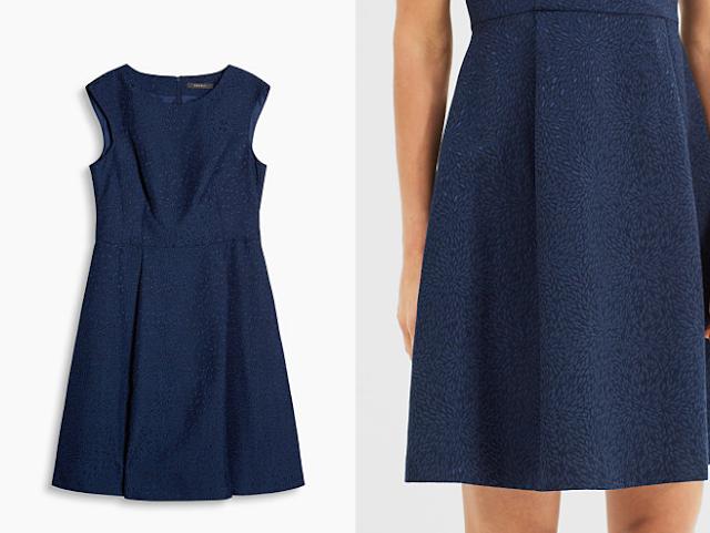 vestido azul retro