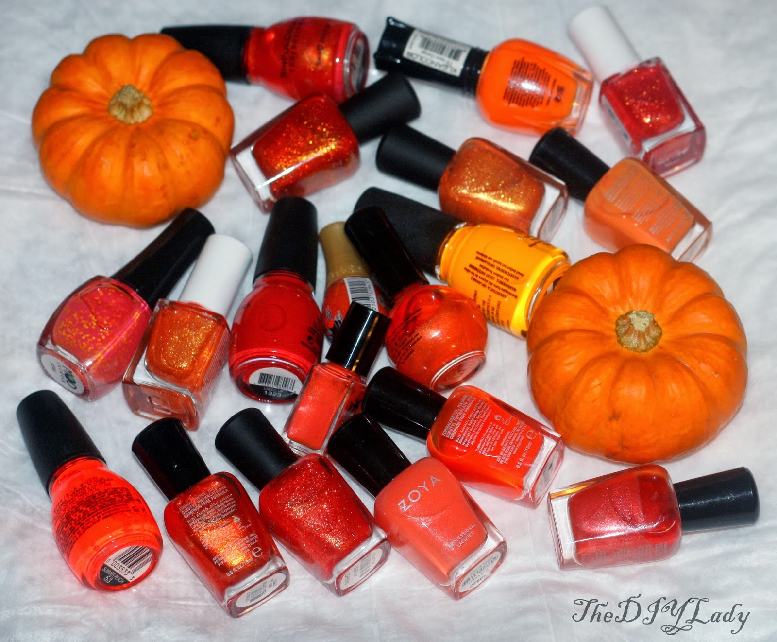 The Do It Yourself Lady: Orange Nail Polish Ideas for ...