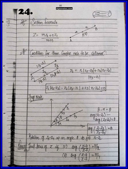 iitjee notes on complex number 24