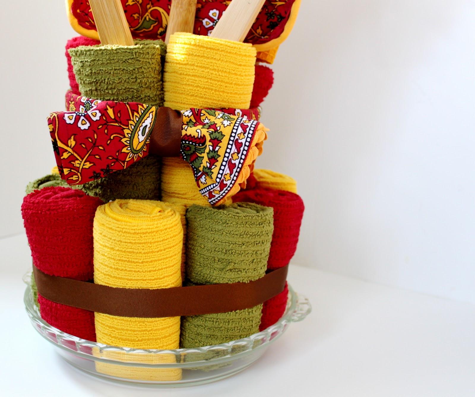How To Make A Tea Towel Cake