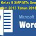 Silabus Kelas 9 SMP/MTs Semester 1 Kurikulum 2013 Tahun 2018/2019
