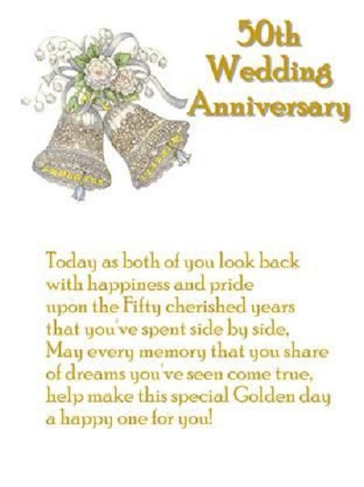 50th wedding anniversary sayings
