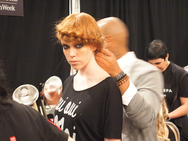 Beauty By Benz Backstage At Emerson Spring 2013