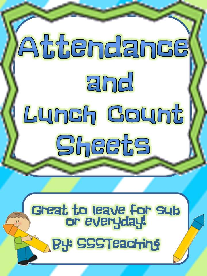 Attendance and Lunch Count FREEBIE! - SSSTeaching