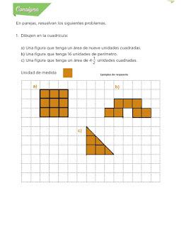 Respuestas Apoyo Primaria Desafíos Matemáticos 4to. Grado Bloque IV Lección 80 Contorno y superficie