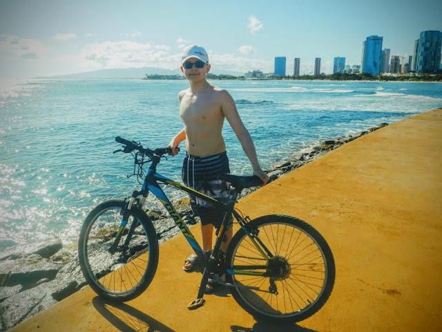 Biking Oahu