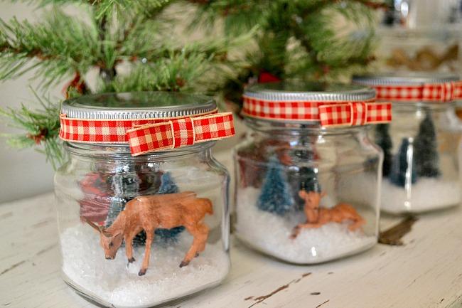 Glass Jar Snow Scenes