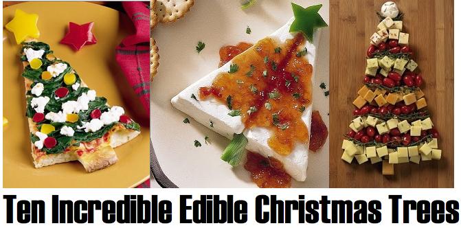 Christmas Tree Food.The Art Of The Edible Christmas Tree