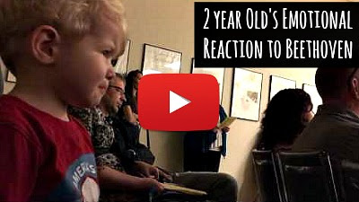 Watch 2 year old baby's emotional reaction to Beethoven's moonlight sonata as he is moved to tears by the music via geniushowto.blogspot.com baby and music videos