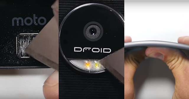 "World Thinnest Smartphone ""Moto Z"" Goes through burn, bend and scratch test"