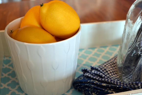 lemons in white bowl: Antique Toolbox Makeover | DIY Playbook