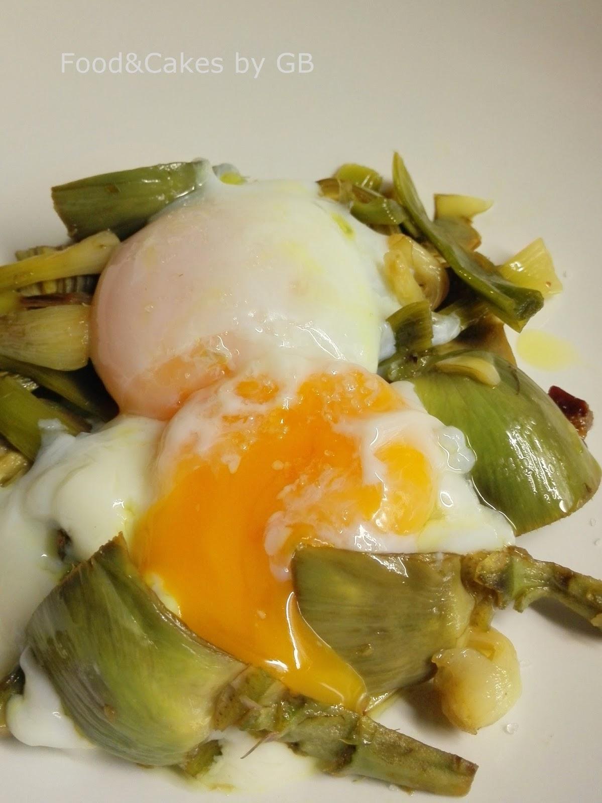 Food cakes alcachofas con ajos tiernos jam n y huevos for Cocina baja temperatura thermomix