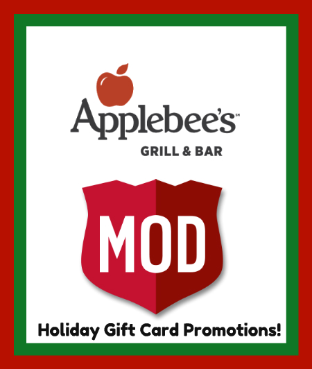 Applebees gift card christmas promotion