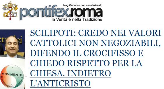 Scilipoti intervistato da Pontifex