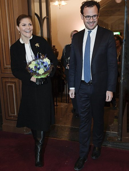 Commemorative ceremony at The Great Synagogue of Stockholm. Crown Princess Victoria wore Gianvito Rossi Levy Boots.