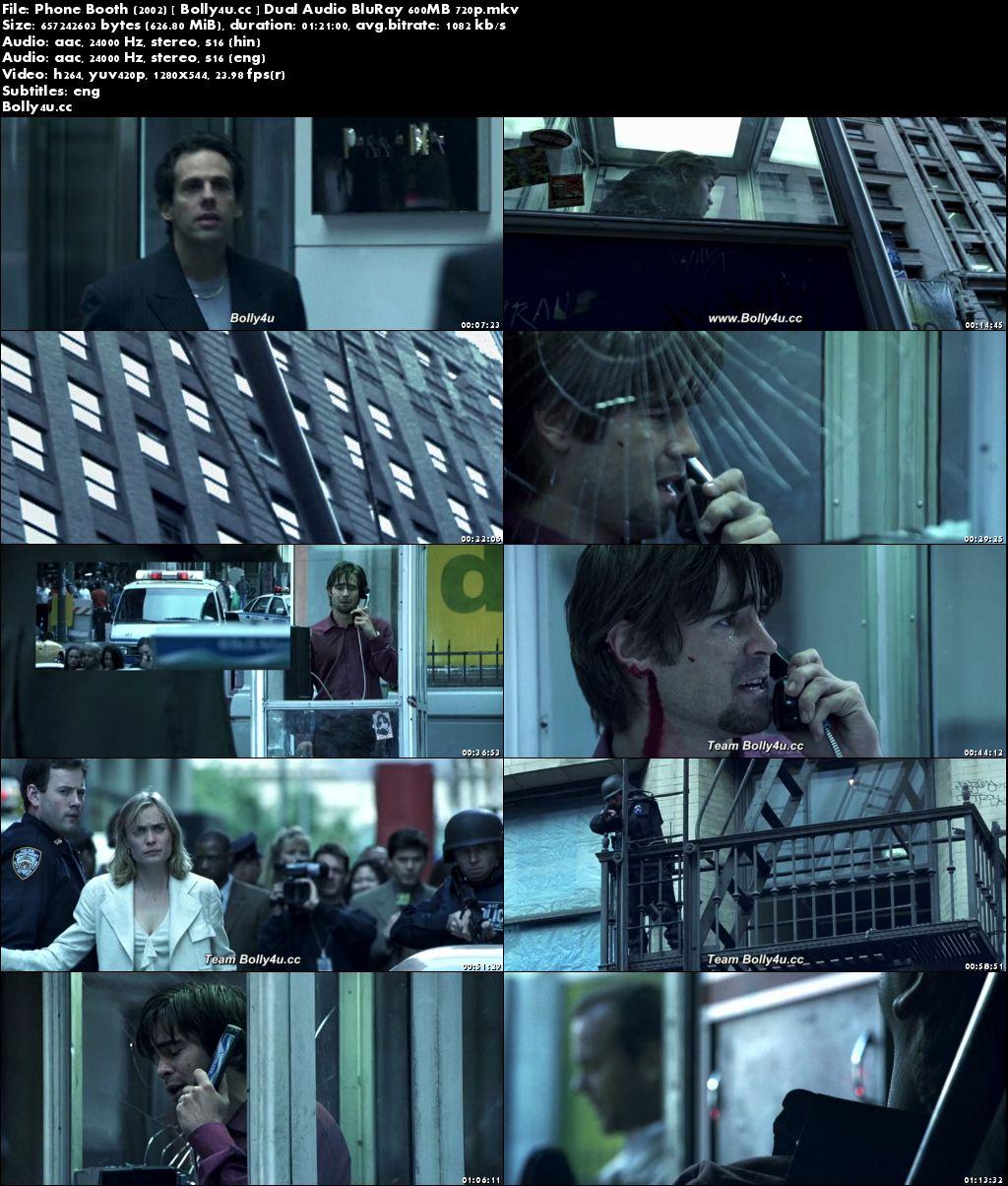 Phone Booth 2002 BluRay 600MB Hindi Dual Audio 720p Download