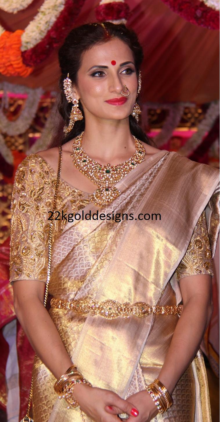 Shilpa Reddy In Bridal Polki Diamond Jewellery