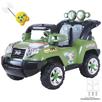 2 Mobil Mainan Aki Elite 008Q Jeep Jumbo Size