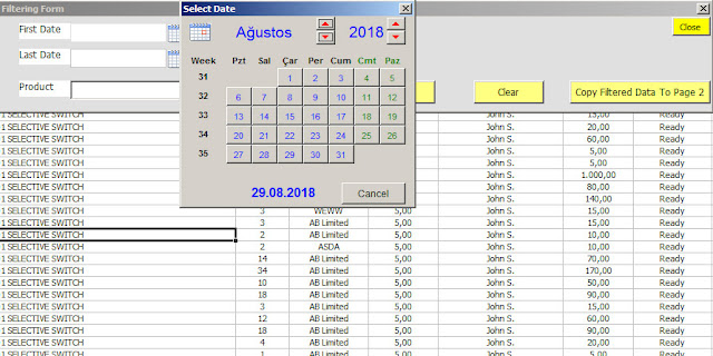 excel vba filter two dates with userform