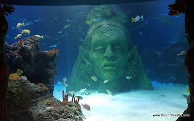 Giant statue underwater sealife manchester