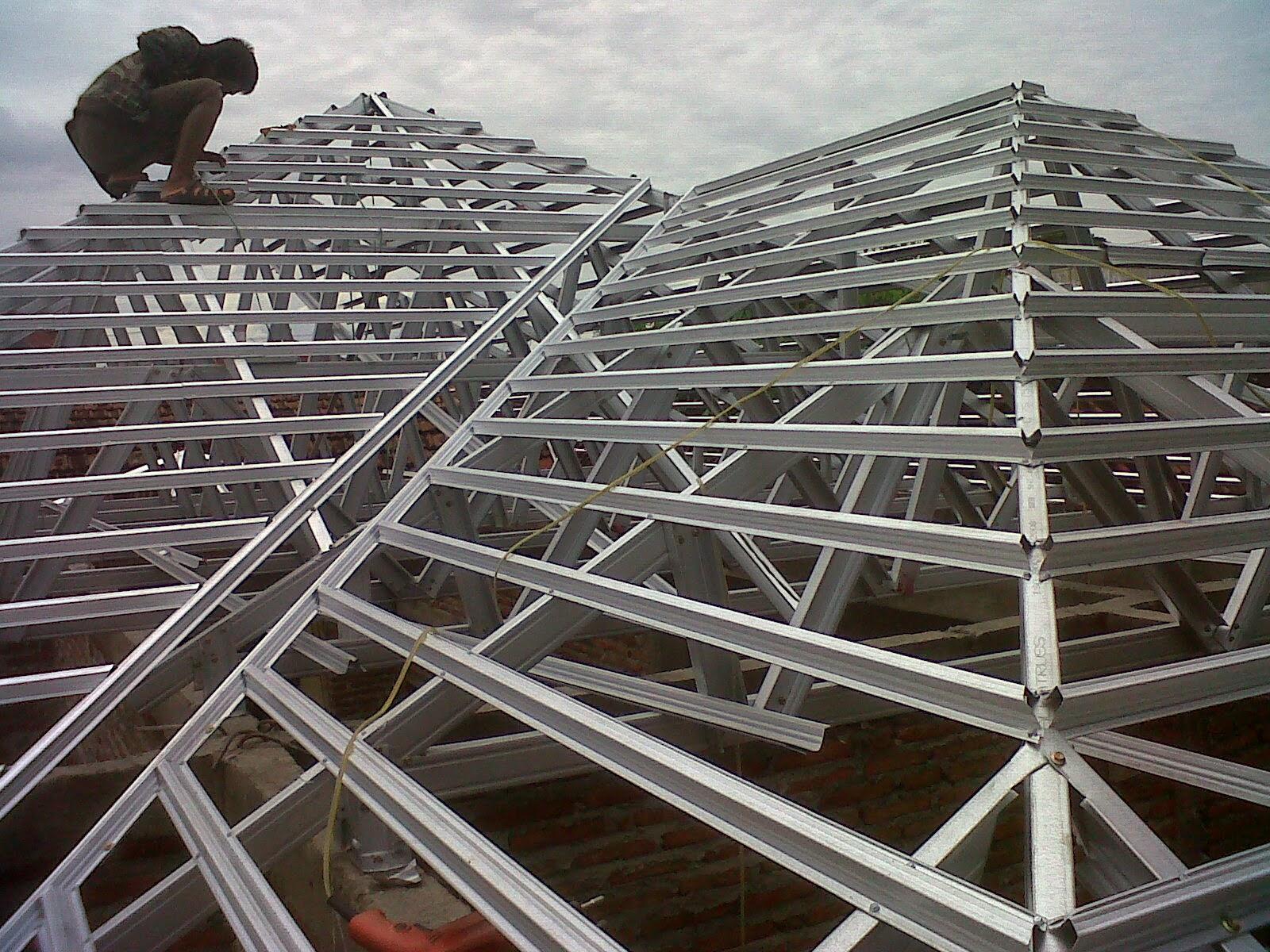 gambar rangka atap baja ringan limasan 191 desain limas paling keren model rumah