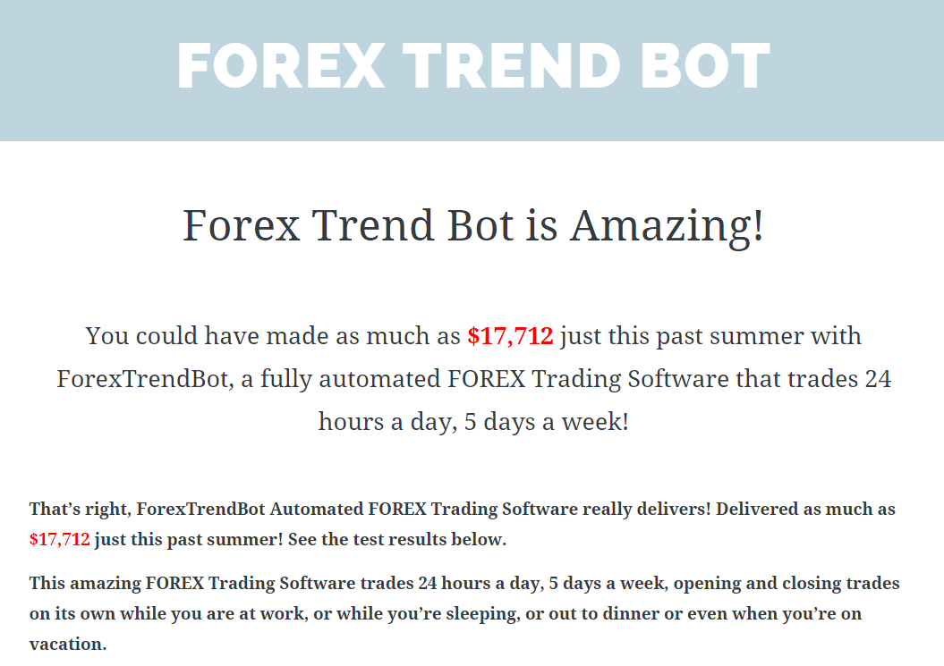 Forex bots that work