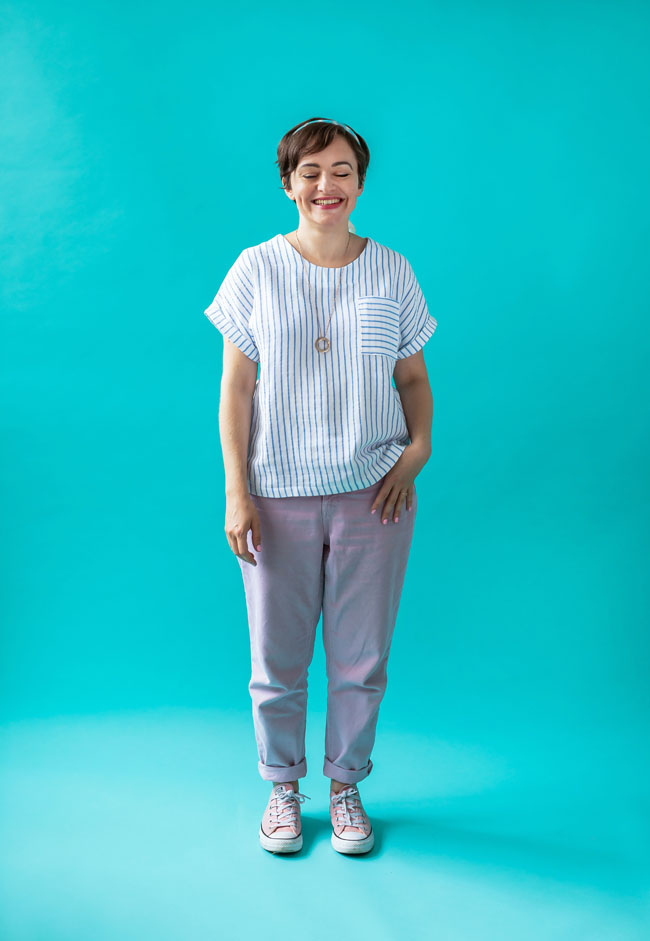 tilly and the buttons  a dreamy double gauze stevie top