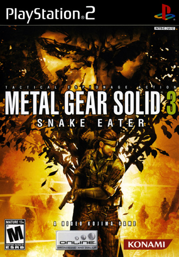 Metal Gear Solid 3 Snake Eater   North american cover - Metal Gear Solid 3 - Snake Eater [PS2]