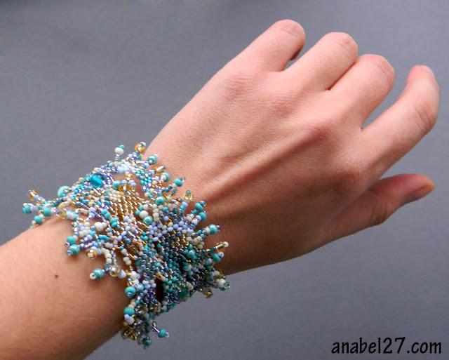 купить браслет из бисера фриформ оригинальные украшения украина