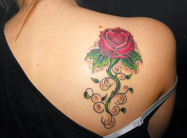 f76863f68 Fashion Tips Beautiful Rose Tattoo Design For Girls On Back