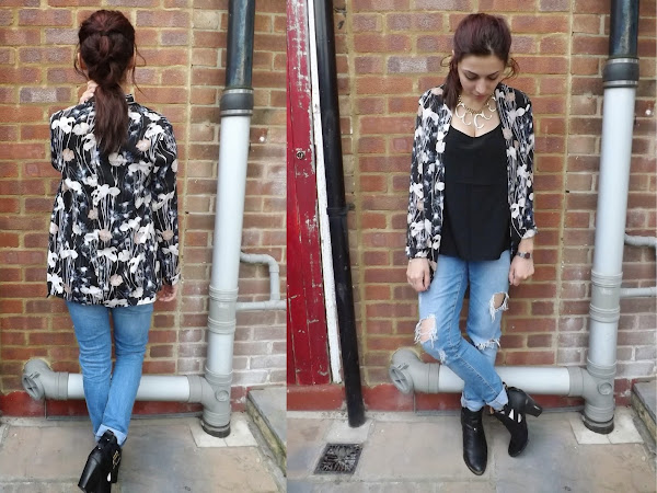 What Cat Wore: Iris Print Jacket