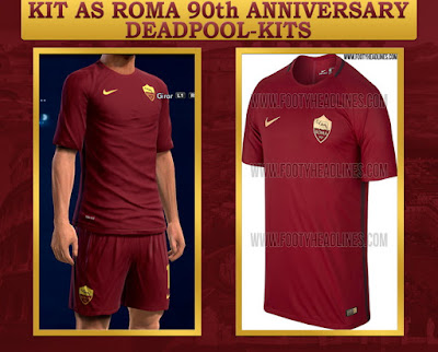 PES 2013 AS Roma 90th Anniversary Kit by DEADPOOL