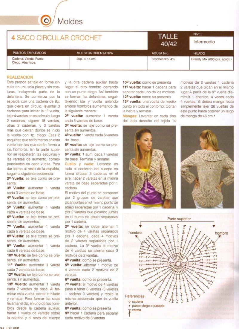 CROCHET-TEJIENDO ARTE : DOS PATRONES DE SUETER CIRCULAR AL CROCHET