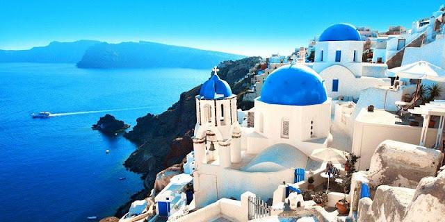 Lua de mel em Santorini, Grécia