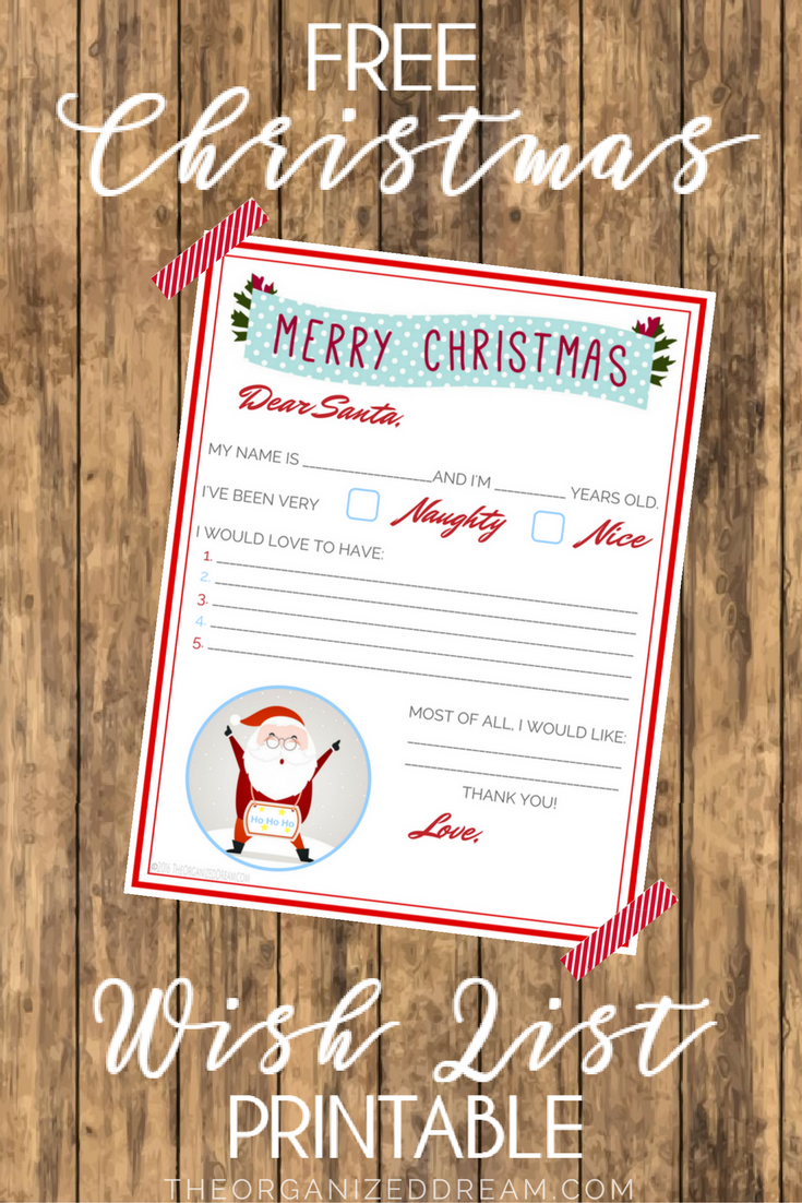This Fun, Free Printable Is Here Just In Time For Your Kids To Fill Out And  Maybe Santa Will Finish Early This Year!  Free Christmas Wish List