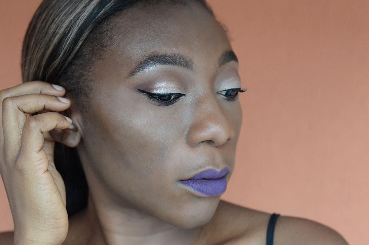 Makeup Bold Purple Lip Colour Cosmetics Look