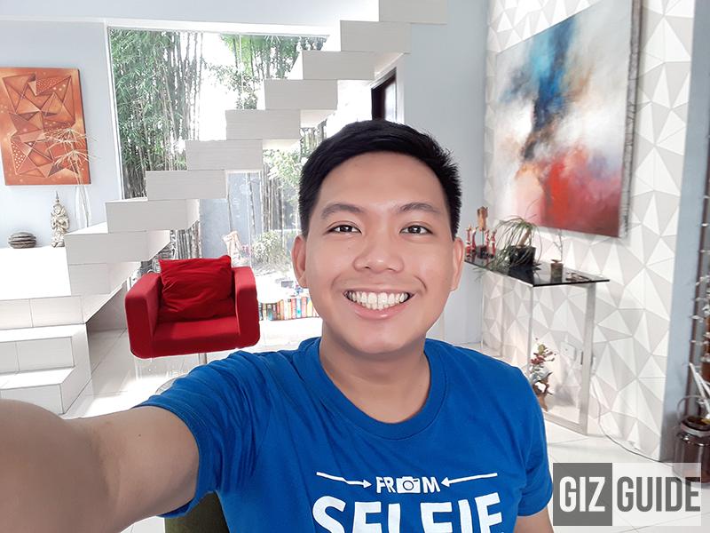 Natural lighting indoor selfie