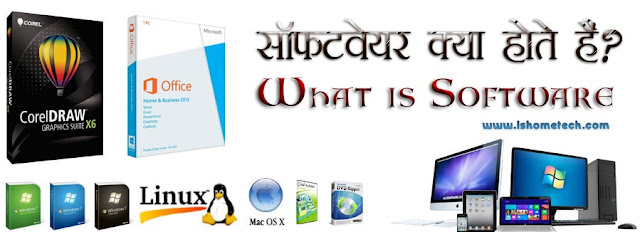 What is Software, how many types it have.