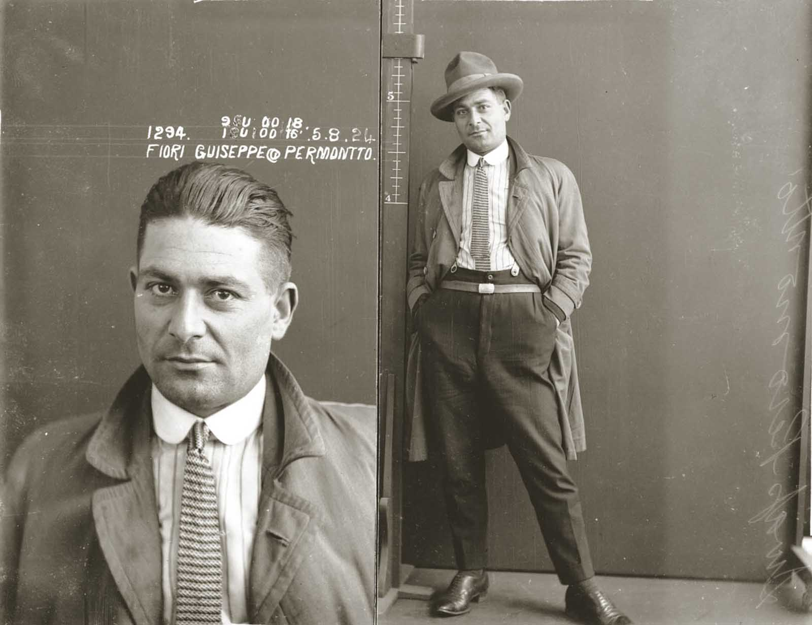 Guiseppe Fiori, alias Permontto. 1924.