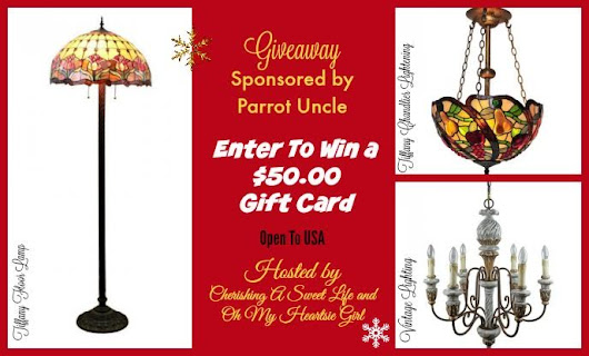 Modern Home Lighting with Parrot Uncle and a $50 Giftcard Giveaway