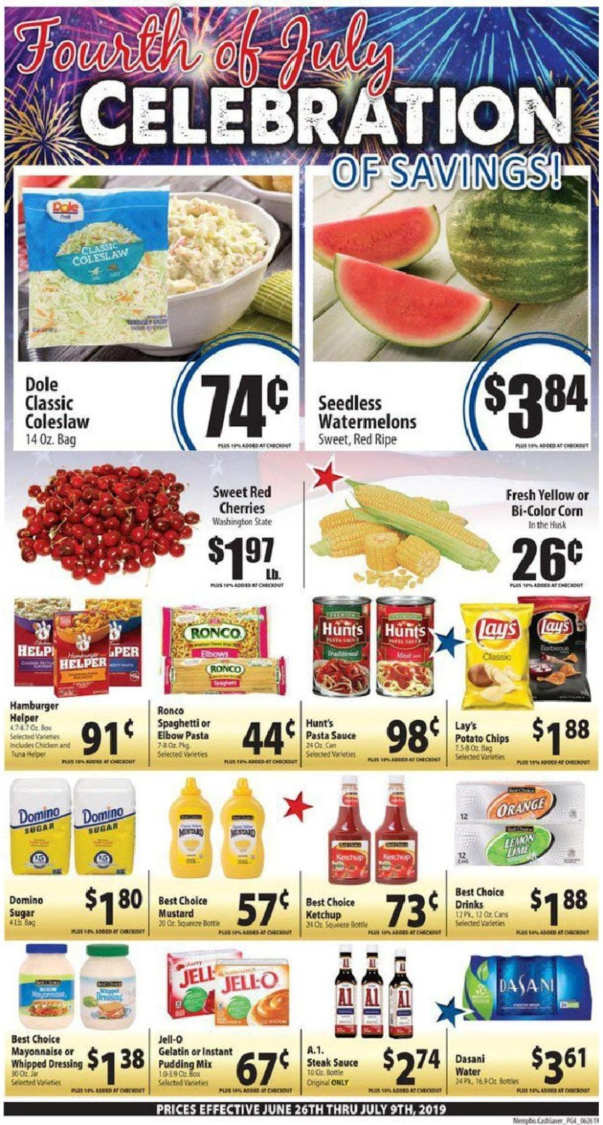 ✅ Cash Saver Weekly Ad July 3 2019