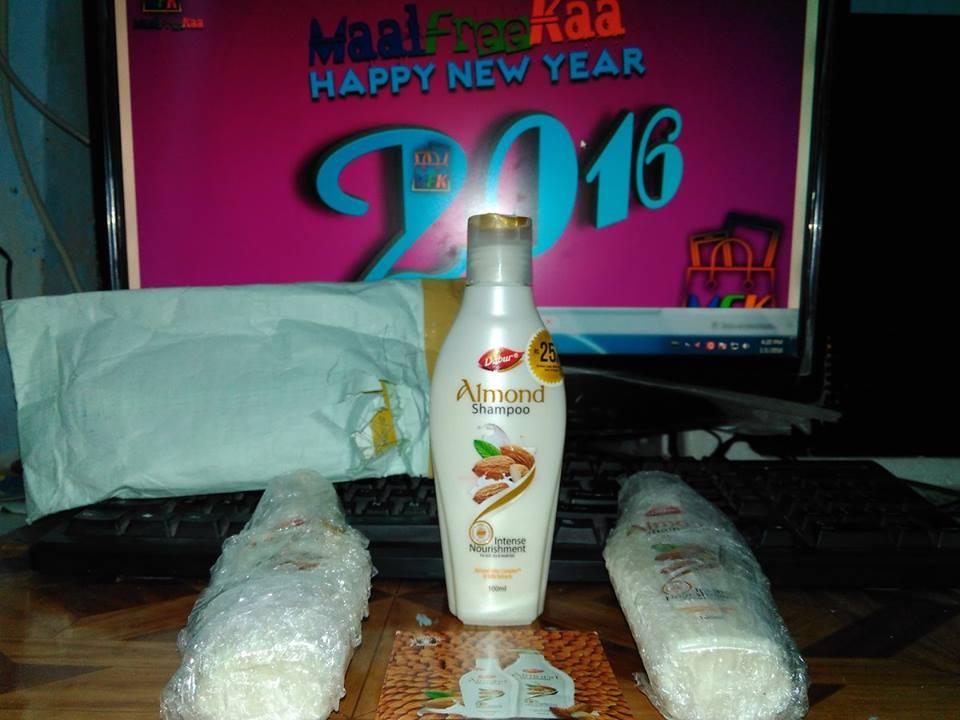 Freebies Received !! Free Sample of Dabur Almond Shampoo MaalFreeKaa